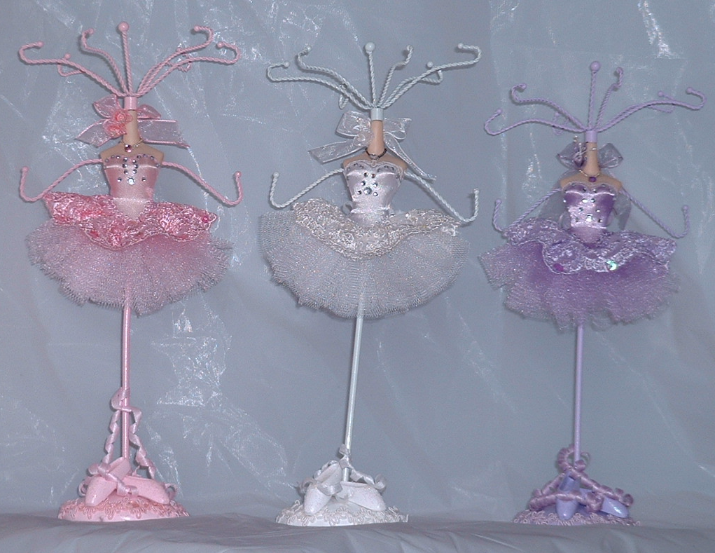 Ballerina Jewellery Mannequin Display Stands - Choice of Pink, White or Lilac