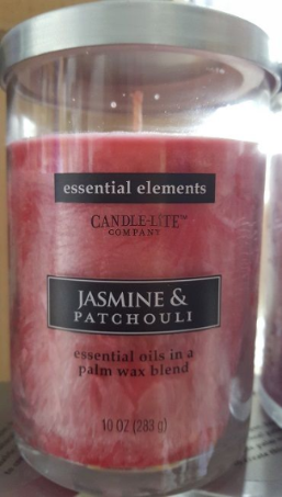 Candle-Lite Company Essential Elements 10oz 283g Essential Oils in Palm Wax Blend Jasmine & Patchouli Candle Jar