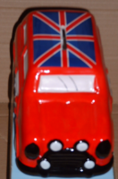 Car Money Box Red Classic Union Jack Mini Novelty Collectable Moneybox Piggy Bank Coin Vehicle