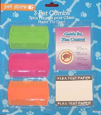Dog Cat Pet Flea Combs Pkt of 3 and Flea Test Paper and Flea Control Guide Pet Store PE0395