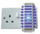 Electronic Plug in Mosquito Bug and Biting Insect Killer Blue Nightlight Boxed 2 in 1 Light