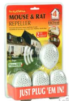 Mouse & Rat Ultrasonic Repeller Pack of 4 Plug-ins The Big Cheese STV718