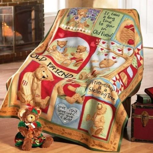 Premier Teddy Bear Design Soft Fleece Bed Throw Blanket 40cm X Unique Christmas Fleece Throws Blankets