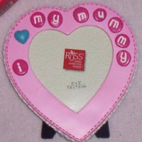 RUSS Berrie and Co Pink Heart Photo Frame I Love My Mummy