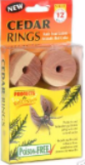 12 Cedar Rings Natural Moth Mildew Must Repellent Balls