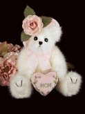BEARINGTON Bear Collection MUMMY TENDERHEART Soft Plush Toy Animal with Mum Heart Cushion