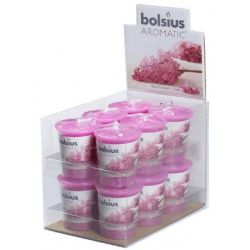 Bolsius Aromatic Votive Mushroom Candles Scented Votives Lilac Fragrance Pack 12