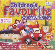 Children's Favourite Songs & Stories 5 CD Box Set Gift Pack 119 Songs Stories + Kids Games