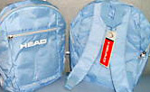 Ladies Head Revive Backpack Rucksack Sky Blue + White Holdall Sports Bag Gym Holidays Travel