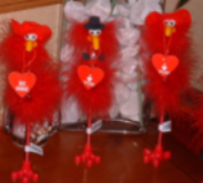Love Birds Novelty Fluffy Valentines Bird Pens Perfect Gift for loved one