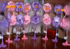 Special Mum or I Love Mum Novelty Mothers Day Fluffy Bird Pens