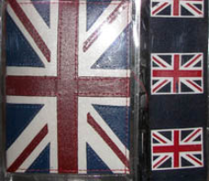 Travel Set Adjustable Great Britain Union Jack Luggage Strap + Leather Union Jack Passport Cover British Traveller